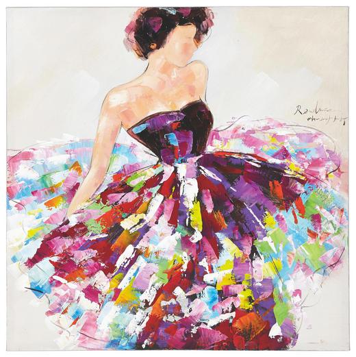 BILD - Multicolor, LIFESTYLE, Holz/Textil (100/100/cm) - Monee