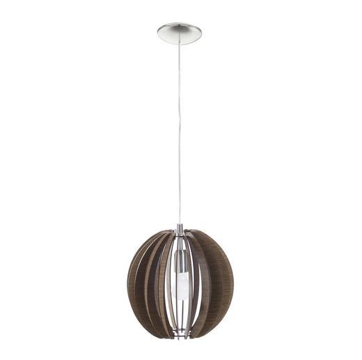 HÄNGELEUCHTE - Dunkelbraun, LIFESTYLE, Holz/Metall (30/110cm) - NOVEL