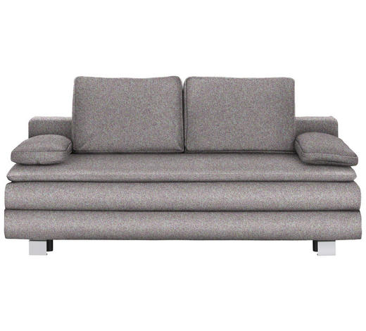BOXSPRINGSOFA in Textil Multicolor  - Chromfarben/Multicolor, Design, Textil/Metall (204/95/100cm)