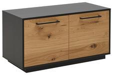 GARDEROBENBANK Balkeneiche furniert Anthrazit, Eichefarben - Eichefarben/Anthrazit, Design, Holz/Metall (86/45/40cm) - Dieter Knoll