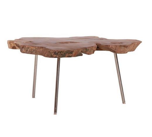 COUCHTISCH in Holz  80-95/40 cm - Design, Holz/Metall (80-95/40cm)