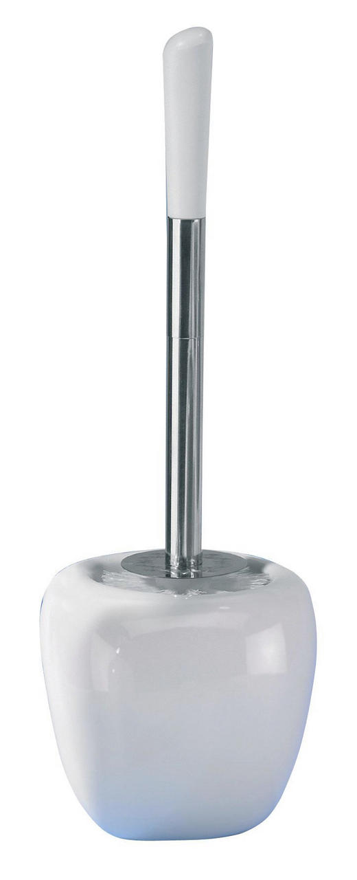 WC-BÜRSTENGARNITUR - Chromfarben/Weiß, Design, Keramik/Kunststoff (13,3/40/10,9cm)