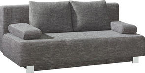 SCHLAFSOFA Webstoff Grau - Chromfarben/Grau, Design, Textil/Metall (197/88/89cm) - Novel