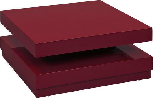 COUCHTISCH Rot - Chromfarben/Rot, Design (75/75/30cm) - Carryhome