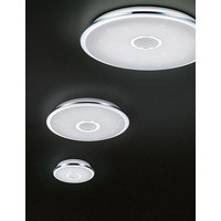Led-deckenleuchte - Chromfarben/Weiß, Basics, Kunststoff/Metall (42 7,5 cm) - Novel