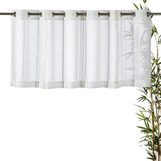 KURZGARDINE    50/140 cm - Creme, Basics, Textil (50/140cm) - ESPOSA