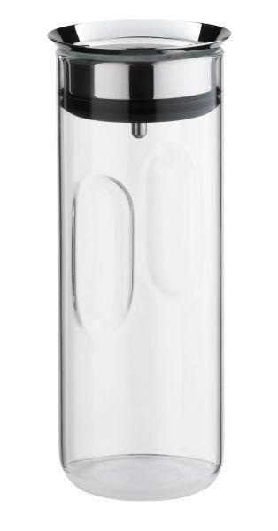 WASSERKARAFFE 0,8 L - Klar/Edelstahlfarben, Basics, Glas/Kunststoff (0,8l) - WMF