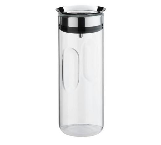 WASSERKARAFFE 1,25 L - Klar/Edelstahlfarben, Design, Glas/Kunststoff (1,25l) - WMF