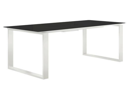ESSTISCH rechteckig Grau, Weiß - Weiß/Grau, Design, Glas/Metall (180cm) - Now by Hülsta