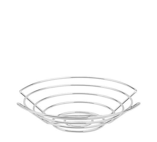 Obstkorb - Edelstahlfarben, Basics, Metall (30/7cm) - Blomus