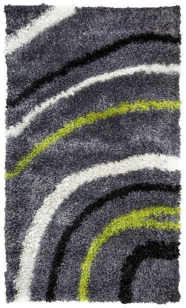 TEPIH VISOKOG FLORA - siva/zelena, Basics, tekstil (160/230cm) - Novel