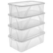 Box mit Deckel 4er Set 34,4/20,2/19,3 cm - Transparent, Basics, Kunststoff (34,4/20,2/19,3cm) - ROTHO