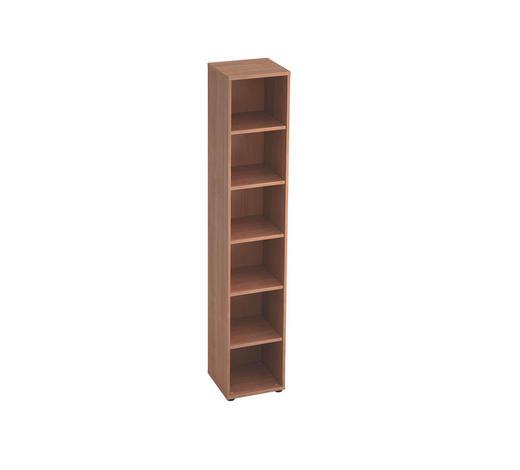 REGAL in 40/215,6/40 cm Nussbaumfarben  - Nussbaumfarben/Schwarz, KONVENTIONELL, Holzwerkstoff/Kunststoff (40/215,6/40cm)