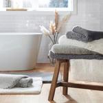 BADEMATTE  60/100 cm  Weiß   - Weiß, Design, Kunststoff/Textil (60/100cm) - Esposa