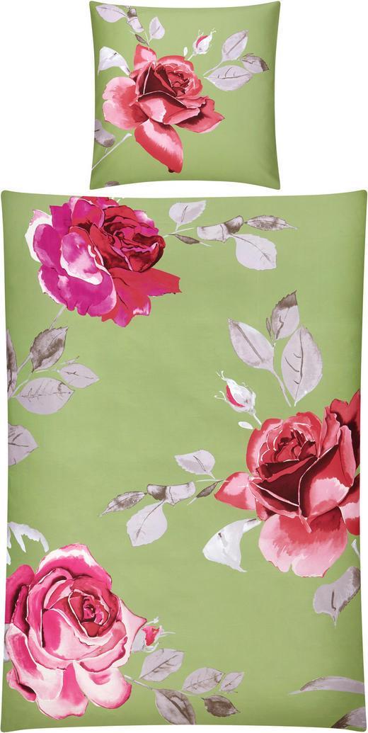 BETTWÄSCHE Satin Grau, Hellgrün, Pink, Rosa, Weiß 135/200 cm - Pink/Hellgrün, Basics, Textil (135/200cm) - Novel