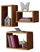 WANDREGALSET Eiche vollmassiv Buchefarben  - Eichefarben/Buchefarben, Design, Holz (100/50/20cm) - Carryhome