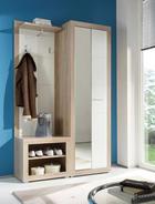 PREDSOBA bela, hrast sonoma - bela/hrast sonoma, Design, leseni material (120/194/37cm) - Boxxx