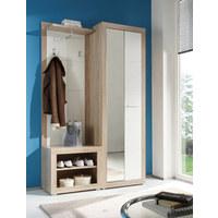 PREDSOBLJE - bijela/hrast Sonoma, Design, drvni materijal (120/194/37cm) - Boxxx