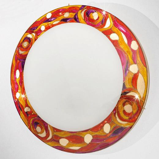 DECKENLEUCHTE - Rot, LIFESTYLE, Glas/Metall (50/10cm)