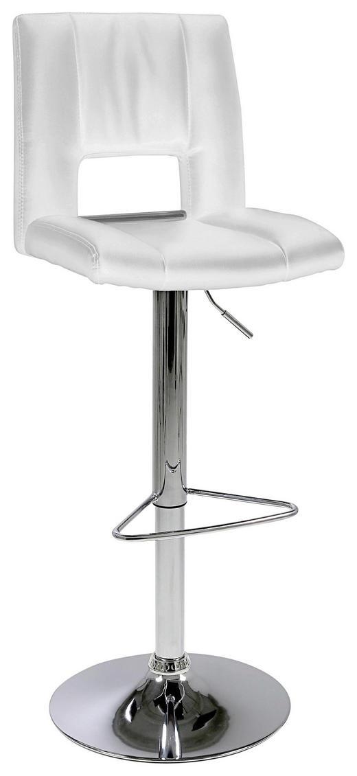 BARHOCKER Lederlook Weiß - Weiß, Design, Textil/Metall (41,5/94-115/52cm) - Carryhome