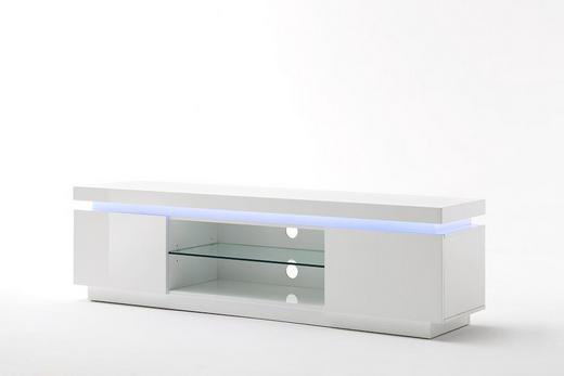 TV-ELEMENT Weiß - Weiß, Basics, Glas (175/40/49cm)