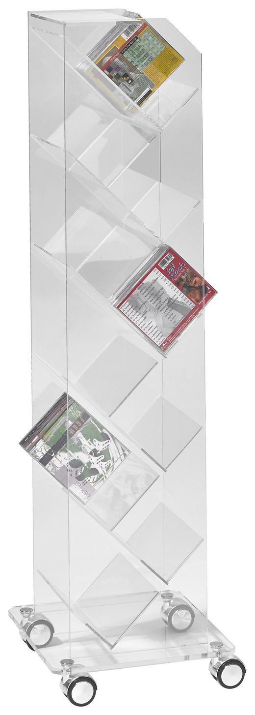 CD-REGAL Klar - Klar, Design, Kunststoff (33/115/33cm)
