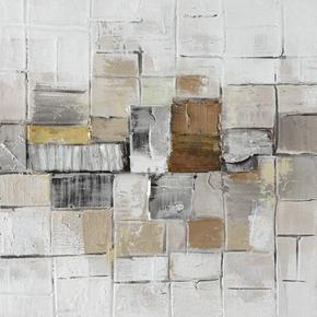 OLJEMÅLNING - multicolor, Basics, trä/textil (55/55cm) - Monee