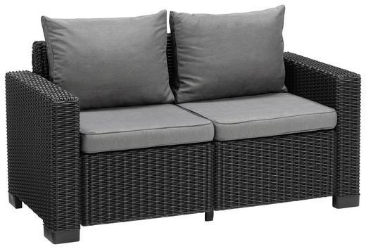 LOUNGESOFA - Hellgrau/Graphitfarben, KONVENTIONELL, Kunststoff/Textil (141/72/68cm)