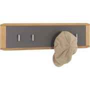 GARDEROBENLEISTE - Eichefarben/Grau, Natur, Holz/Holzwerkstoff (80/20/2cm) - Venda