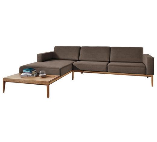 WOHNLANDSCHAFT in Textil Braun  - Eichefarben/Braun, LIFESTYLE, Holz/Textil (221/295cm) - Ada Austria