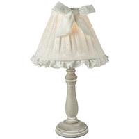 TISCHLEUCHTE - Taupe/Weiß, Trend, Holzwerkstoff/Textil (22/41/22cm) - Ambia Home