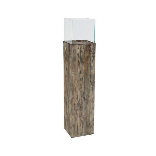 DEKOSÄULE Glas, Holz Kiefer - Glas/Holz (26,5/26,5/120cm)