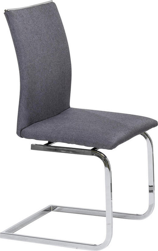 SCHWINGSTUHL Webstoff Grau - Grau, Design, Textil/Metall (46/99/59cm) - Carryhome