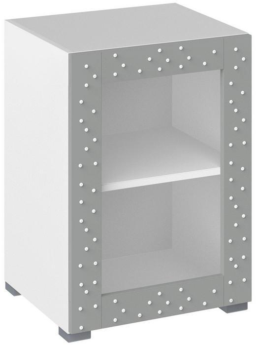 KOMMODE Grau, Weiß - Weiß/Grau, Design, Glas/Kunststoff (50/72,8/44cm) - Xora