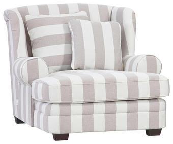 KŘESLO - bílá/tmavě hnědá, Trend, dřevo/textil (121/100/140cm) - AMBIA HOME