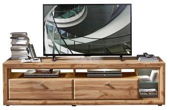 KOMODA LOWBOARD, barvy dubu - černá/barvy dubu, Konvenční, kov/kompozitní dřevo (200/54/50cm) - Cantus