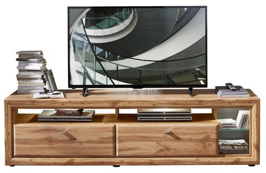 LOWBOARD foliert Eichefarben - Chromfarben/Eichefarben, Design, Kunststoff/Metall (200/54/50cm) - Cantus