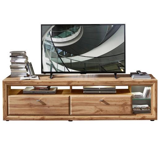 LOWBOARD 200/54/50 cm - Chromfarben/Eichefarben, KONVENTIONELL, Holzwerkstoff/Kunststoff (200/54/50cm) - Cantus