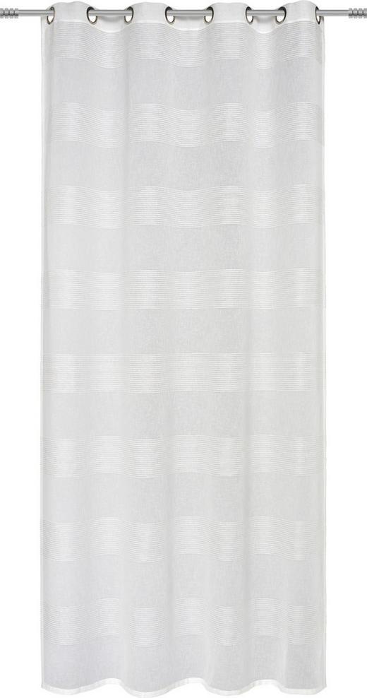 ÖSENSCHAL  transparent   140/245 cm - Weiß, Basics, Textil (140/245cm) - Esposa