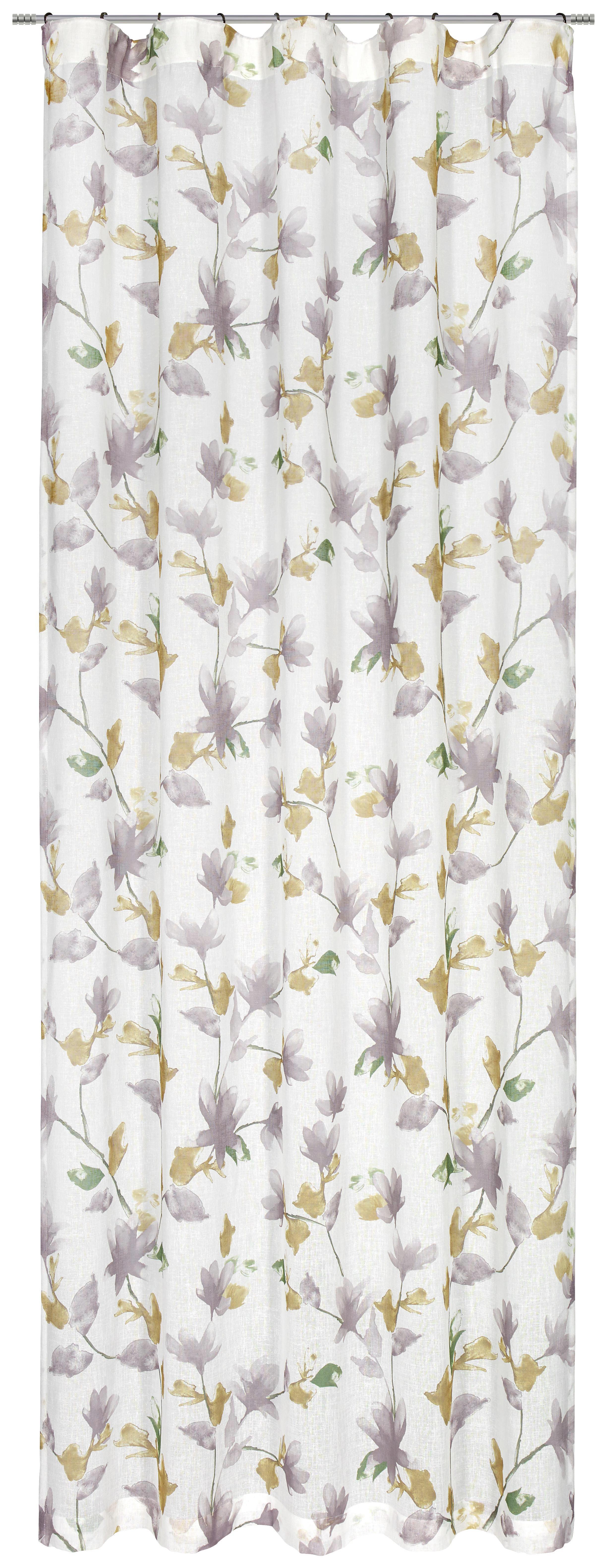 FERTIGVORHANG halbtransparent - Taupe/Grün, MODERN, Textil (135/245cm) - ESPOSA