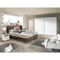 SKŘÍŇ S POSUVNÝMI DVEŘMI, bílá - bílá/barvy stříbra, Design, kov/dřevěný materiál (270/210/61cm) - Ti`me