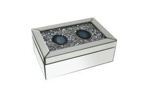 SMYCKESKRIN - klar/silver, Basics, glas/träbaserade material (25,5/27,5/9,5cm) - Ambia Home