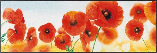 FUßMATTE 60/180 cm Blume Rot - Rot, Kunststoff/Textil (60/180cm) - Esposa