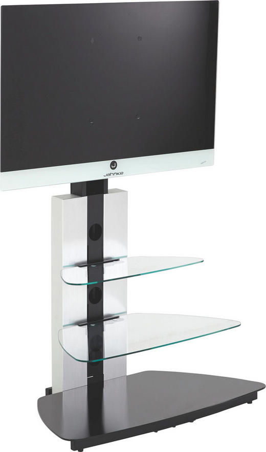 TV-RACK in Schwarz - Schwarz, Design, Glas/Metall (90/120/54.5cm)