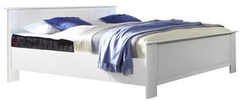 BETT 180/200 cm  in Weiß - Weiß, KONVENTIONELL, Holzwerkstoff (180/200cm) - Cantus