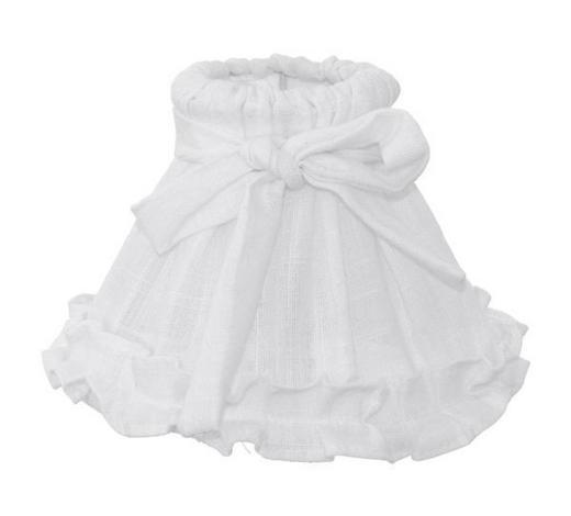 SJENILO SVJETILJKE - bijela, Romantično / ladanjski, tekstil (20,5/14,5cm)
