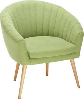 FÅTÖLJ - grön/naturfärgad, Design, textil (75/77/45/66cm)