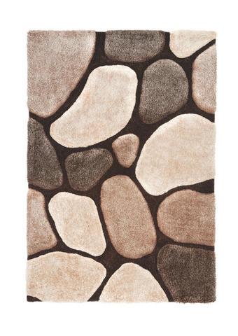 KOSMATINEC STONE - bež/rjava, Design, tekstil (160/230cm) - Novel