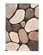 TEPIH VISOKOG FLORA - bež/smeđa, Design, tekstil (130/190cm) - Novel