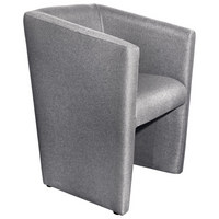 SESSEL in Textil Hellgrau - Hellgrau, Design, Kunststoff/Textil (58/72/52cm) - Hom`in